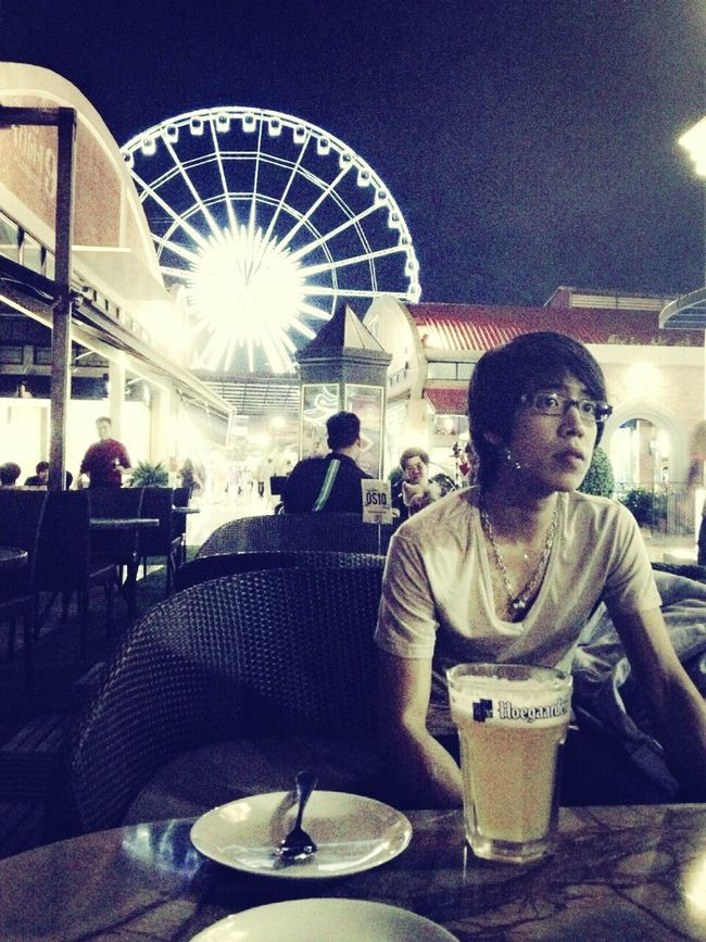 get chilling with great view in BKK, THAILAND Alone Asiatique WHY79ASIATIQUE Night Lights