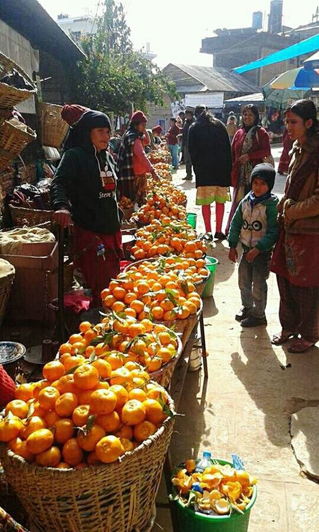 Oranges at nepal at manakamana mandir