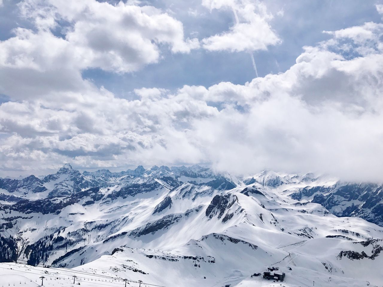 Snow Winter Cold Temperature Beauty In Nature Tranquil Scene Tranquility Scenics Weather Nature Mountain White Color Snowcapped Mountain Cloud - Sky Majestic Day Idyllic Sky Mountain Range Landscape Outdoors Nebelhorn The Great Outdoors - 2017 EyeEm Awards EyeEm Selects