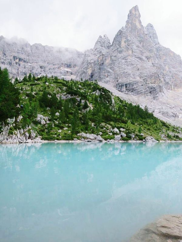 Sorapis Lake Mountain Beauty In Nature Nature Lake Non-urban Scene Water Sky Solitude