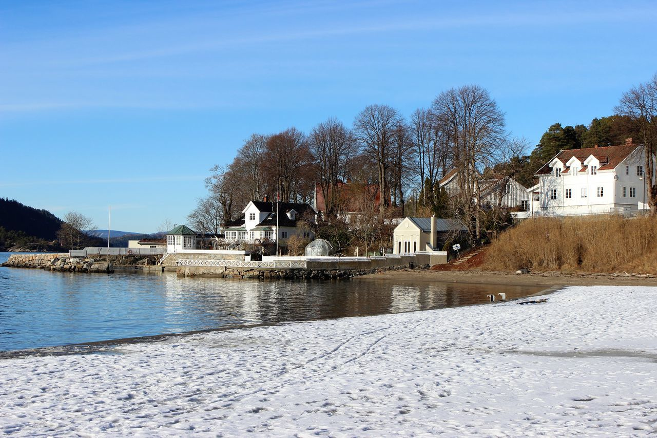 Beach Winter Day Beautiful Sea_collection Sunlight Blue Oslofjord Outdoors Beauty In Nature Scenery_collection EyeEm Norway Scenery Shots No People Travel Destinations