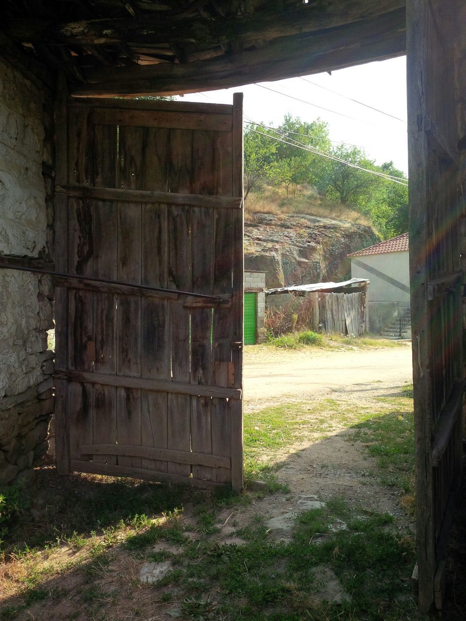 Old Wooden Door In Village
