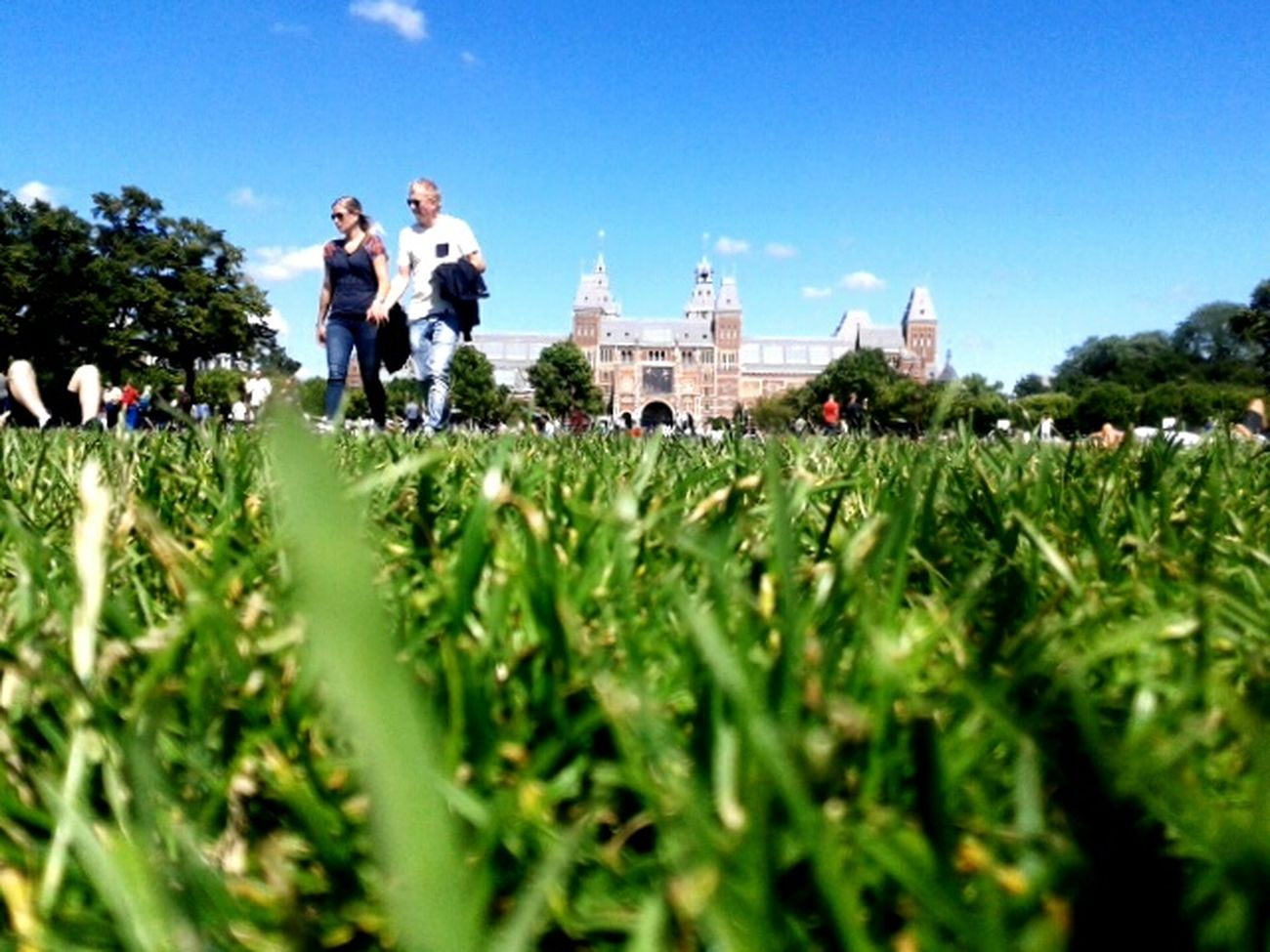 Chilling in Amsterdam. Togetherness Grass Vacations Outdoors Travel City Travel Destinations Clear Sky Architecture Nederland Amsterdamcity Summer Vibes Dutch Cities Nederlandse Q Park Museumplein Museums Walking Around Rijksmuseum