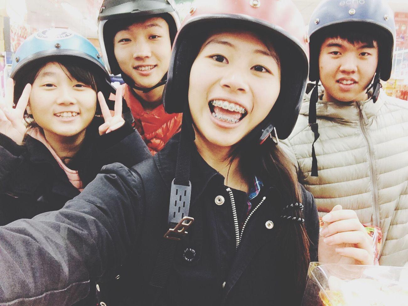 幹嘛? Enjoying Life Haha Guest Helmet Buy Food Friends