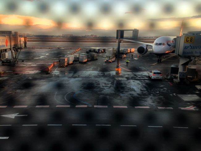 Few Moments before Boarding the British Airways flight Boing Airplane Airport