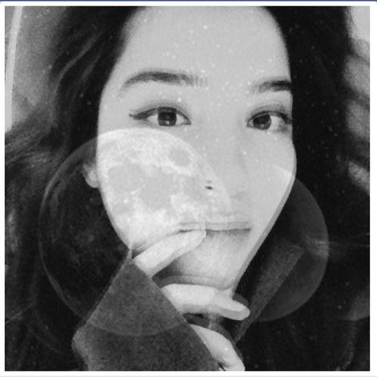 Moon Eyeliner Blackandwhite Sky Face Faces Of EyeEm Girl Hello World