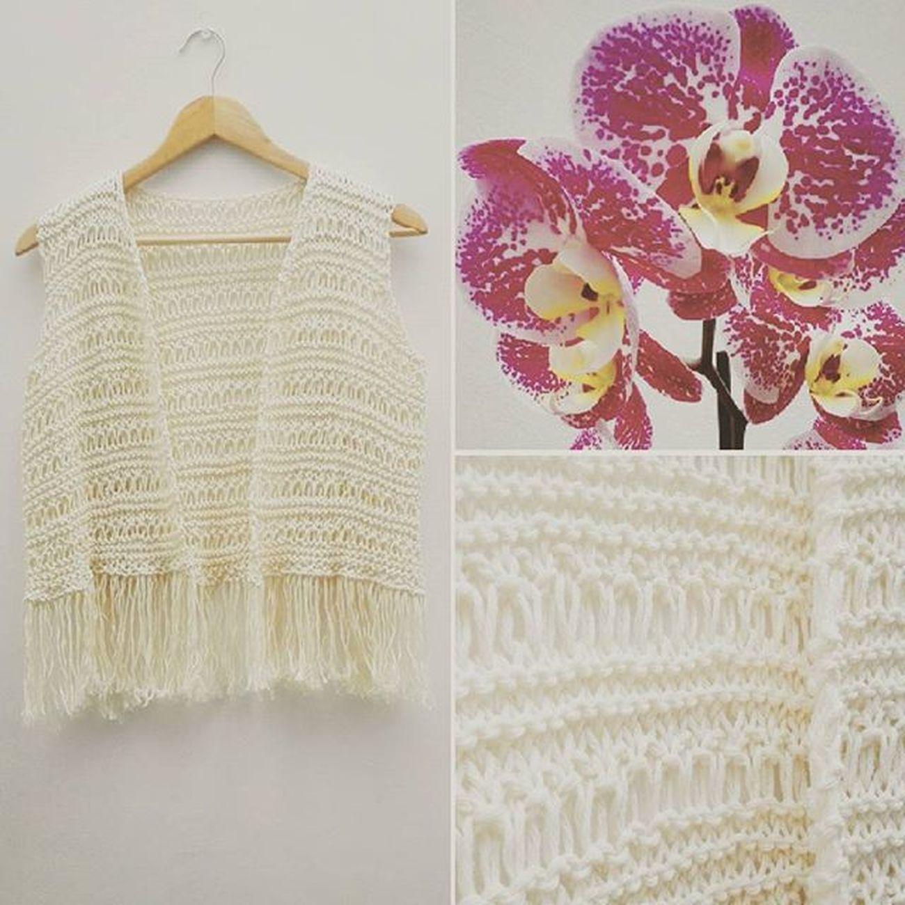 Boho Vest Chaleco Tatapatata Handmade Handmadewithlove Knitwear Knit Cotton Summer Flecos Orchid Orquídea Natura Love Romantic