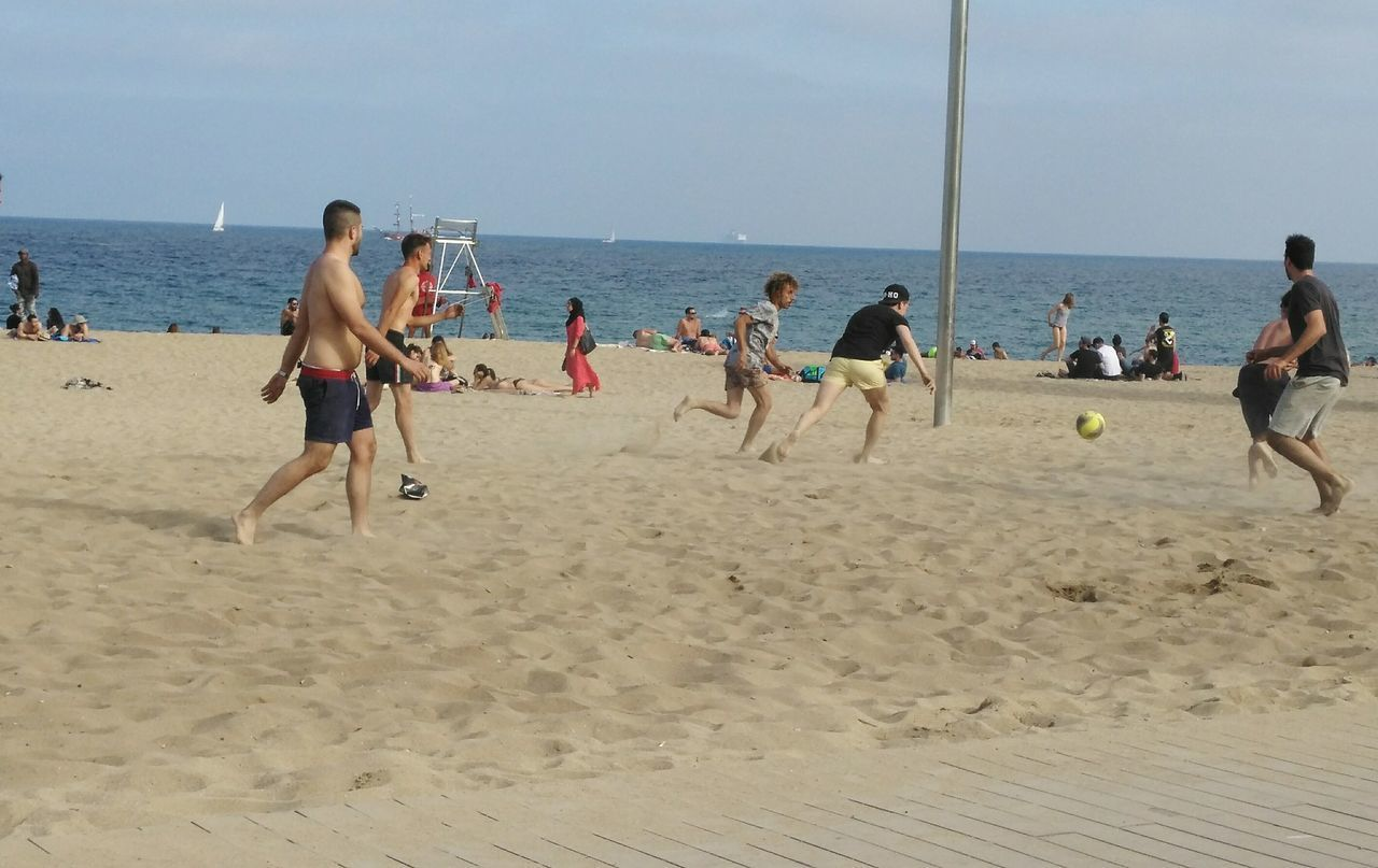 Beach Summer Competitive Sport Togetherness Outdoors Sports Team Adults Only Sky Sand Sport Playing Sea Water Nature Day Adult Barcelona♡♥♡♥♡ Cataluña Spain The Architect - 2017 EyeEm Awards Live For The Story