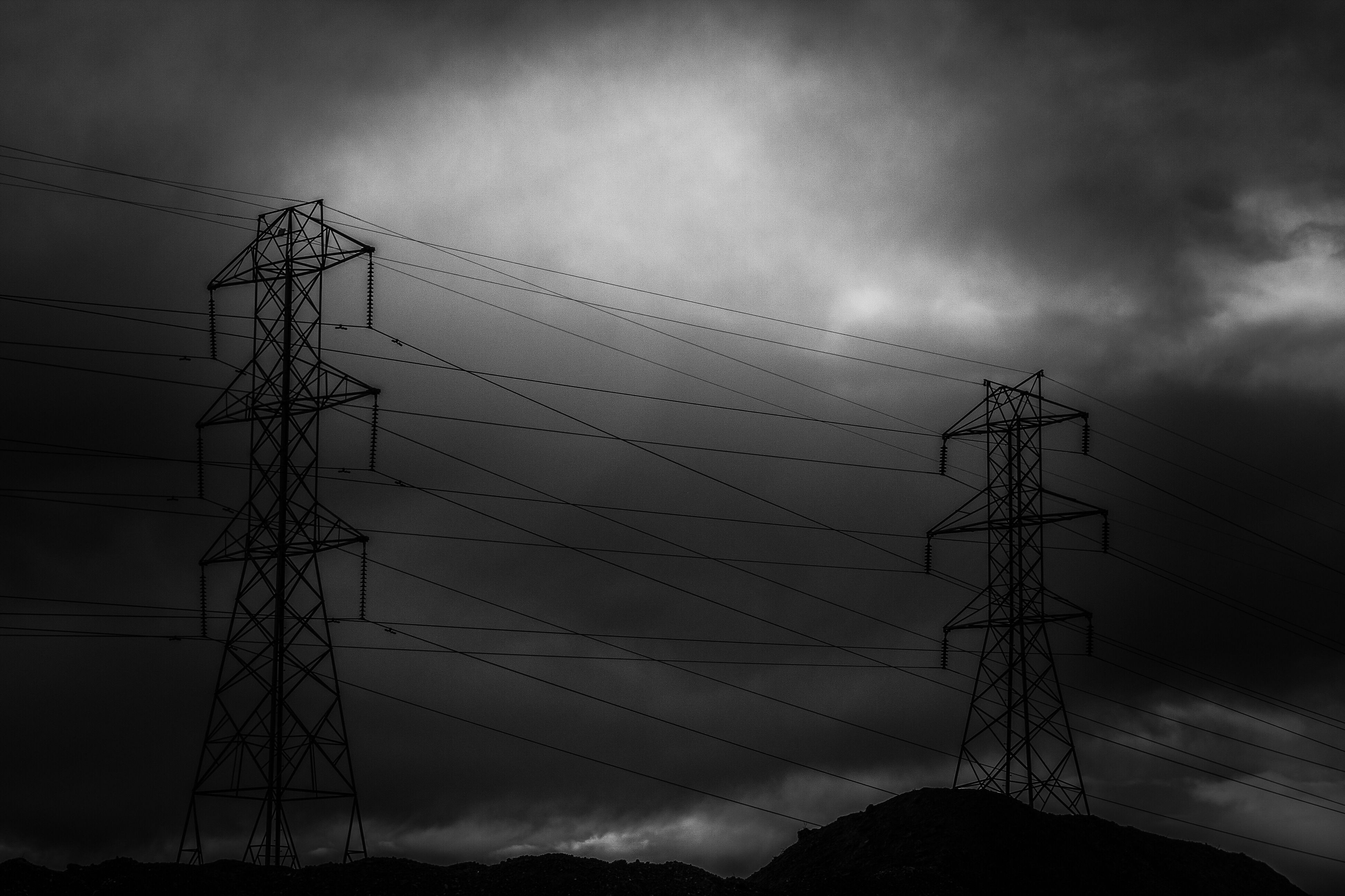 electricity, connection, electricity pylon, power line, cable, dusk, power supply, no people, silhouette, sunset, sky, cloud - sky, electricity tower, outdoors, animal themes, nature, day