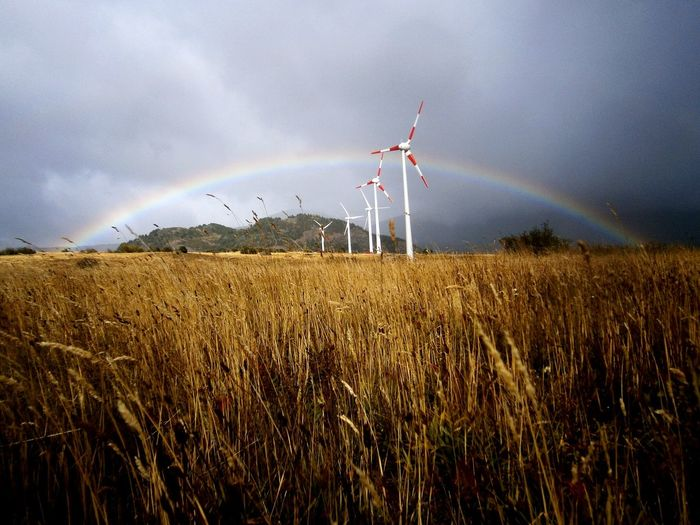 Antenas Eólicas en Coyhaique Energía Renovable Arcoiris Carretera Austral Patagónia Chile First Eyeem Photo