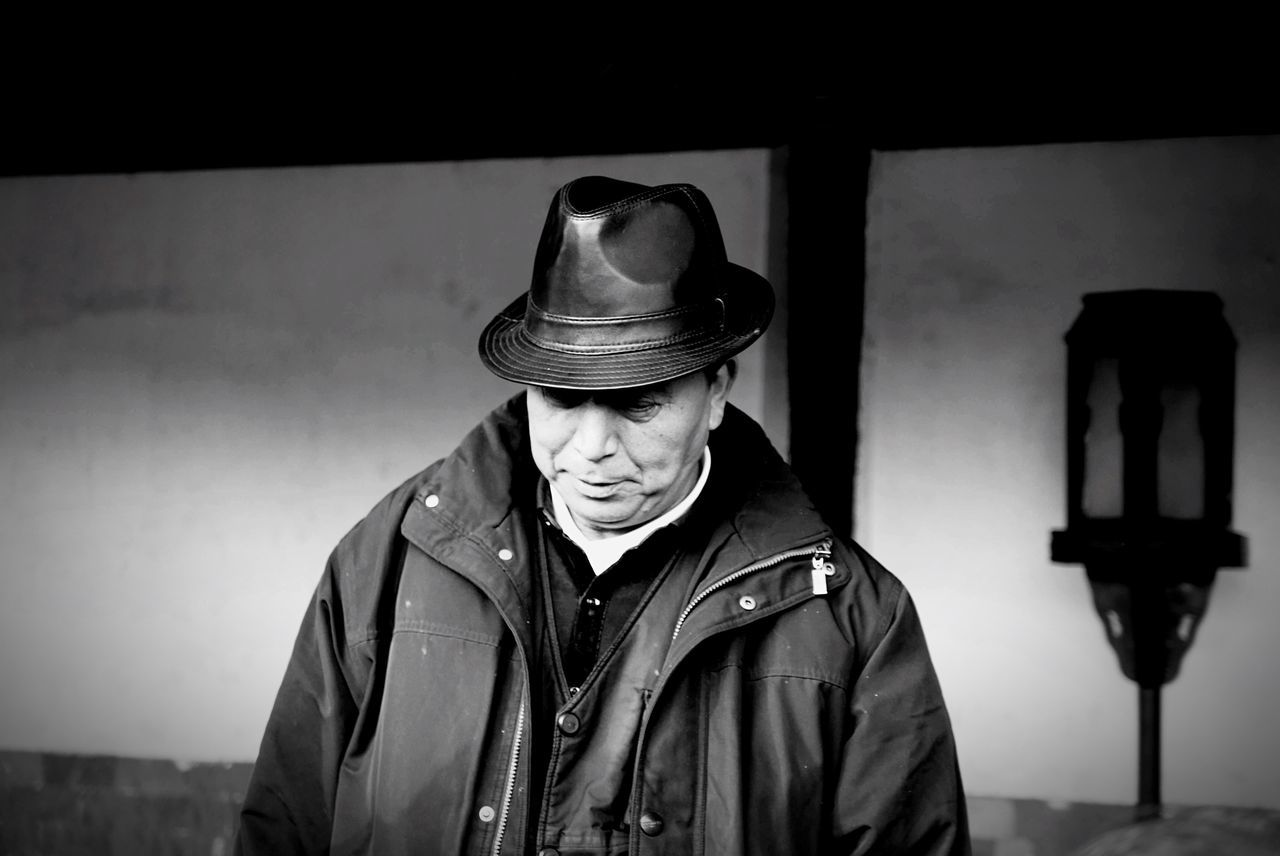 Capturing portraits in China. Gangsters Paradise Portrait Black And White Blackandwhite Photography Man Elderly China ASIA Asian Man Hat Gangster Hats Black Hat China Photos Old Man