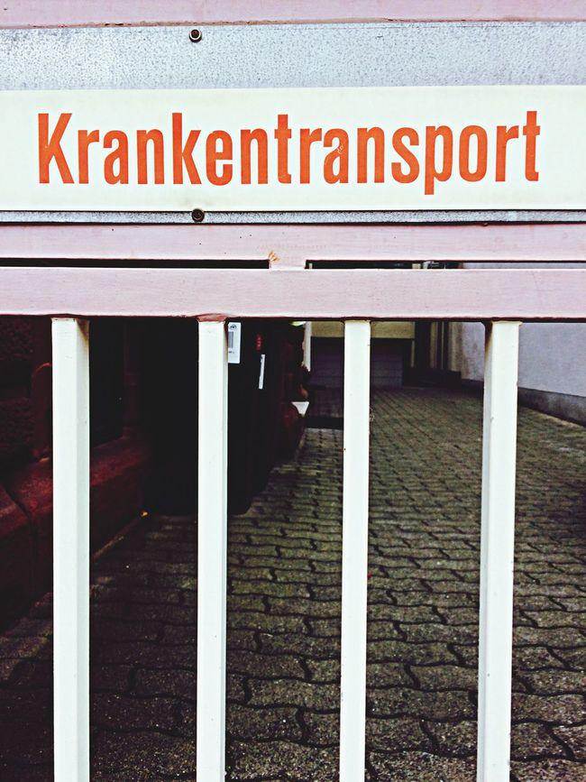Krankentransport. 2014 Krankentransport Streetphotography Street Street Photography Signs Unusual Signs Typography