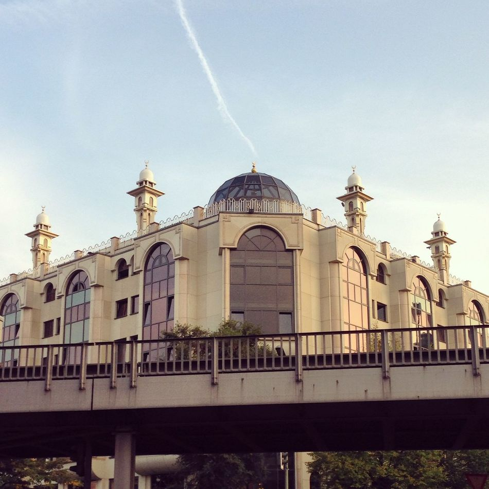 Architecture Building Exterior Built Structure Chemtrails City Day Dome Kreuzberg Kreuzberg36 Low Angle View Mevlana Mevlana Mosque Moschee Mosque No People Outdoors Place Of Worship Religion Sky Spirituality Travel Destinations U1 Ubahn Xberg