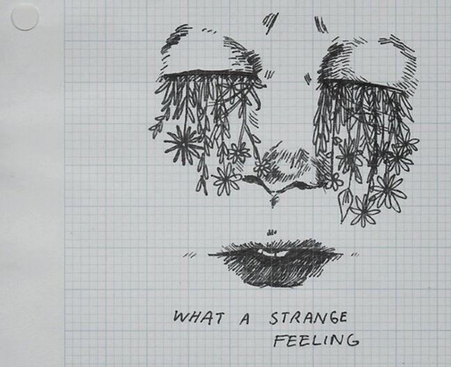 Strange Eyes Flowers Art