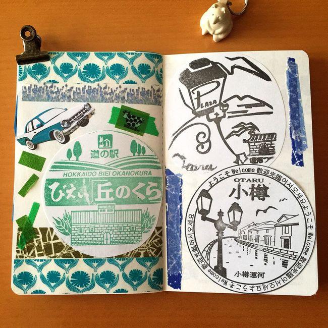 美瑛で、いろいろな木たちを見たり、旅ノートには無いけど旭山動物園に行ったりしたDAY3。 そして、最終日のDAY4は小樽観光しました◡̈♪ 北海道 美瑛 小樽 旅ノート 丘のくら 手帳