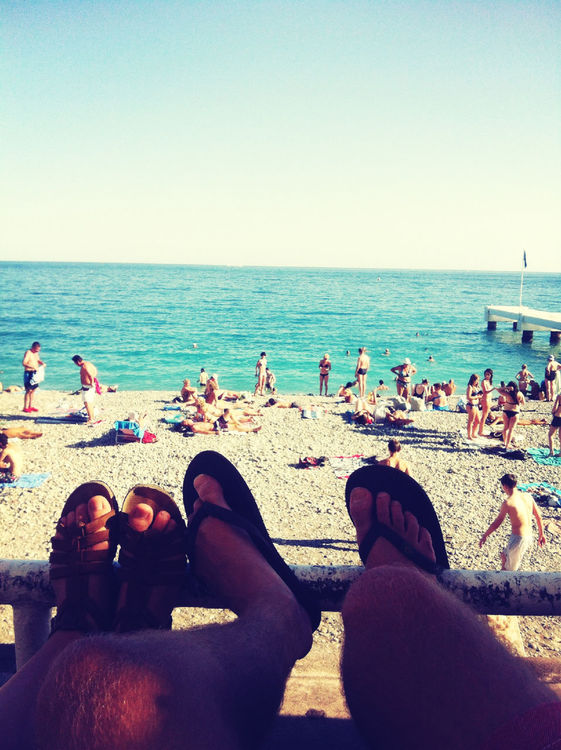 feet at Promenade des Anglais by c a r o l i n e