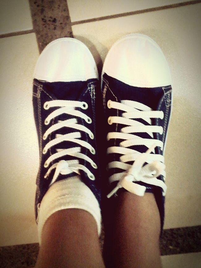 Rubbershoes Footwear White&blue Sock