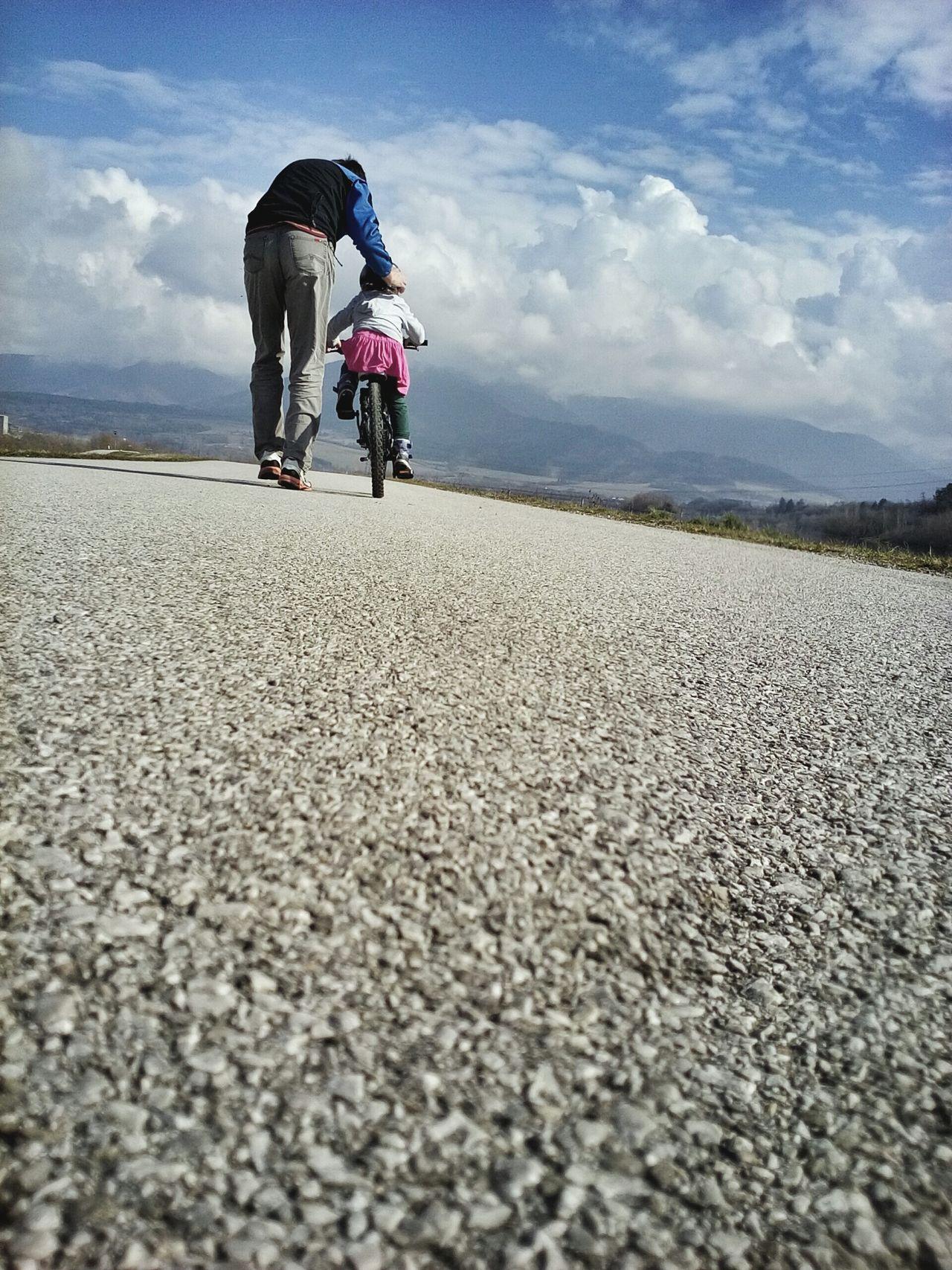 Beautiful stock photos of family, 4-5 Years, Asphalt, Bicycle, Bonding