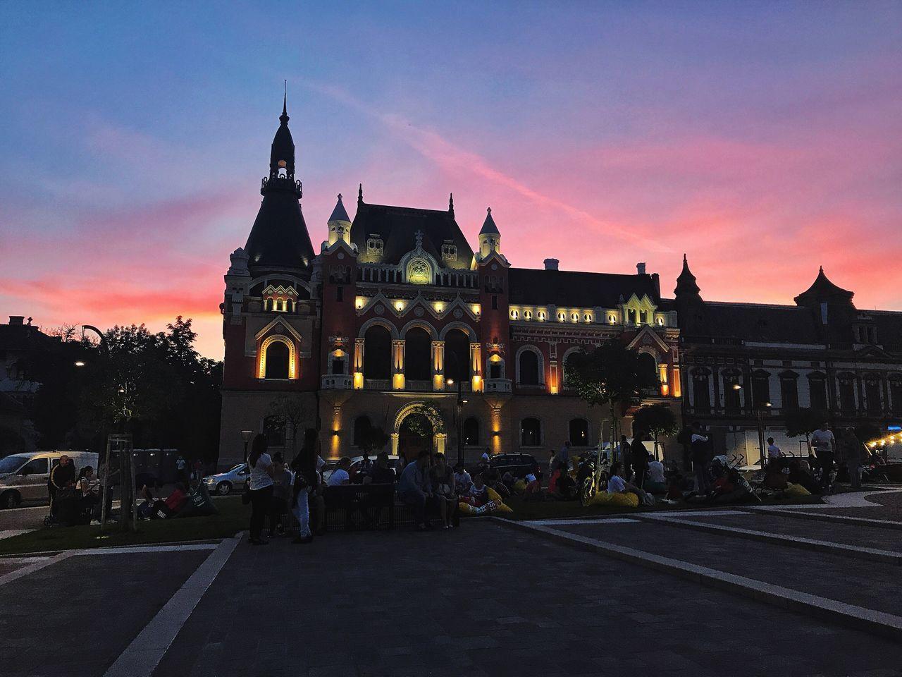 Fairy tail sunset! 🦄🌄 Oradea,România Sky City Fairytale  Architecture Streetphotography Amateurphotography