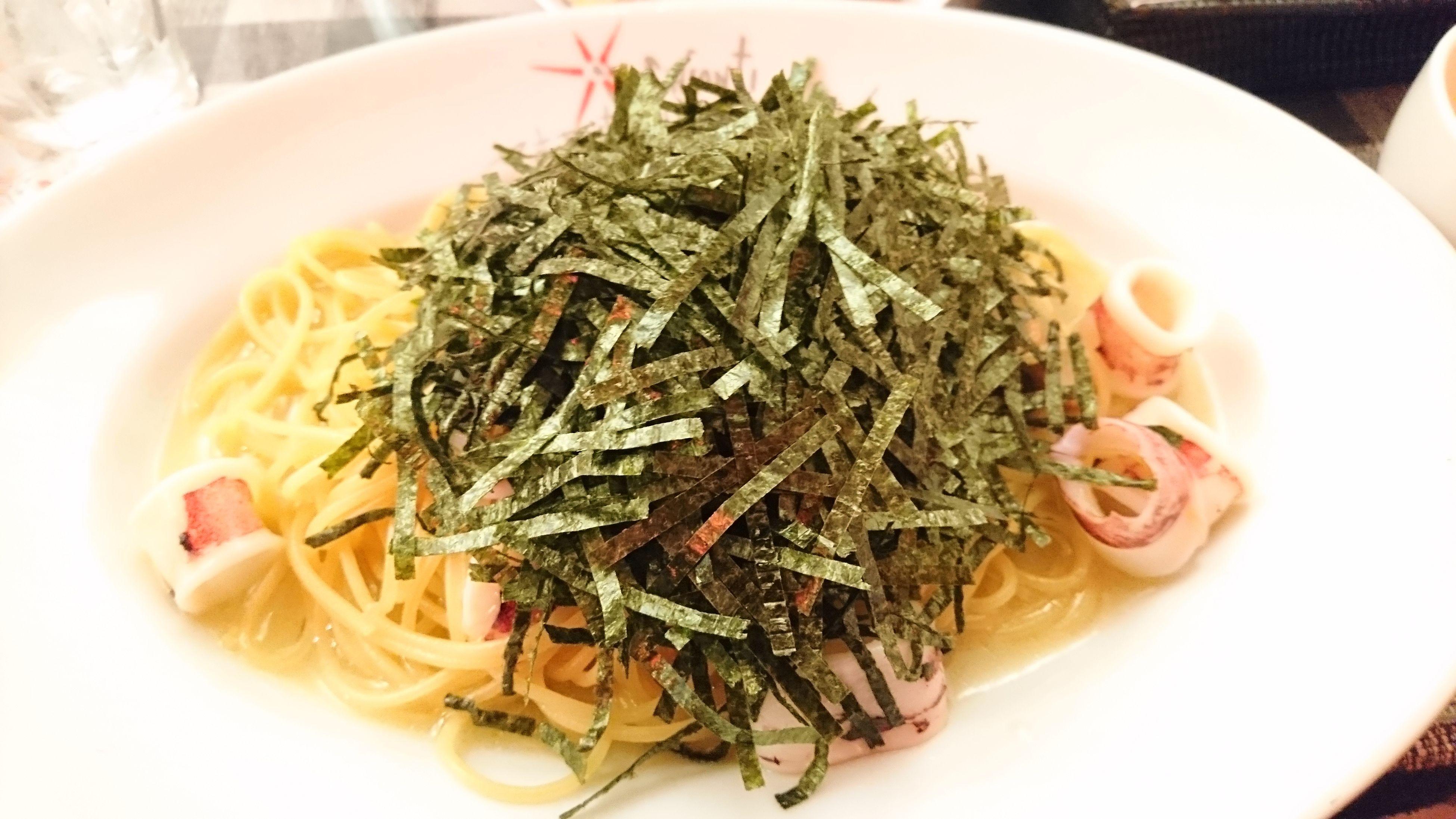 いかと海苔のスパゲッティ Lunch Time! Delicious ♡ 東銀座 Pasta