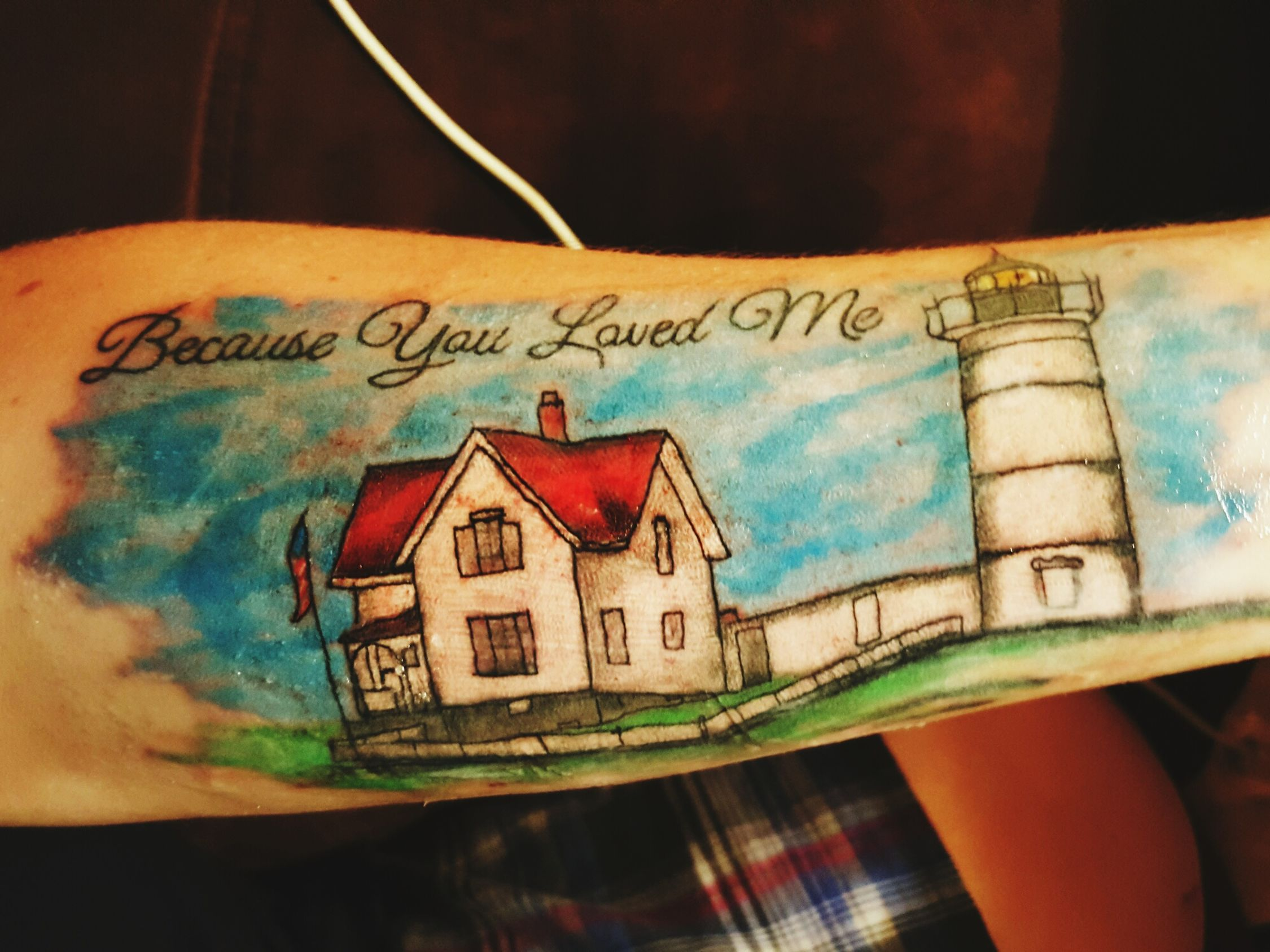 Tattoos Memorial Because You Loved Me Nubble Lighthouse Moms