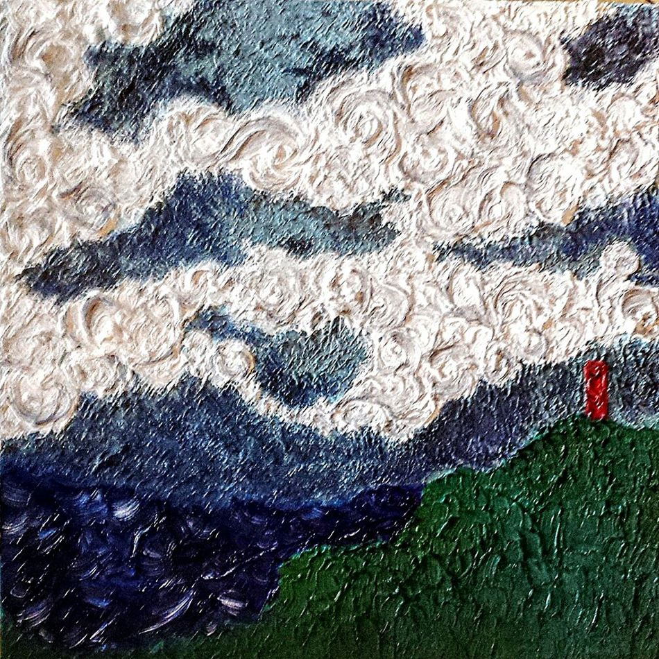 Nefilian oil painting xxxxxxx Nefilian Xxxxxxx Oil Painting Sky And Clouds Postbox Cliffs Sea Loss David Bowie X