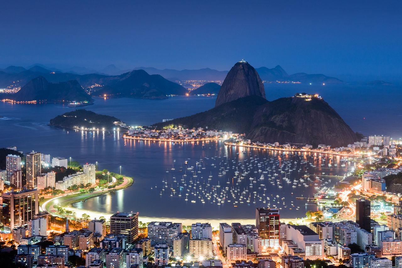 Baía De Guanabara Blue Hour Botafogo Brazil Buildings Fine Art Photography Pão De Açucar Rio De Janeiro Sky Showcase July