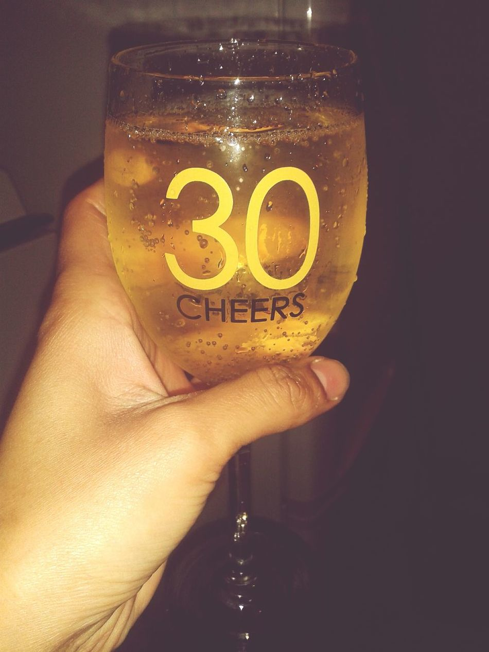 Drinking Wine Chilling Gettin Tipsy using my birthday glass :)♡