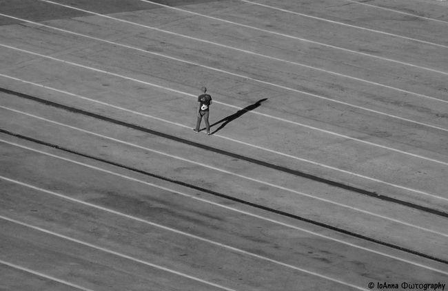 """walking man"" Ancona Art Blackandwhite Bnw City Day Italy Lines Man Minimalism Monochrome One Person Outdoors Portrait Streetphotography Travel Walking"