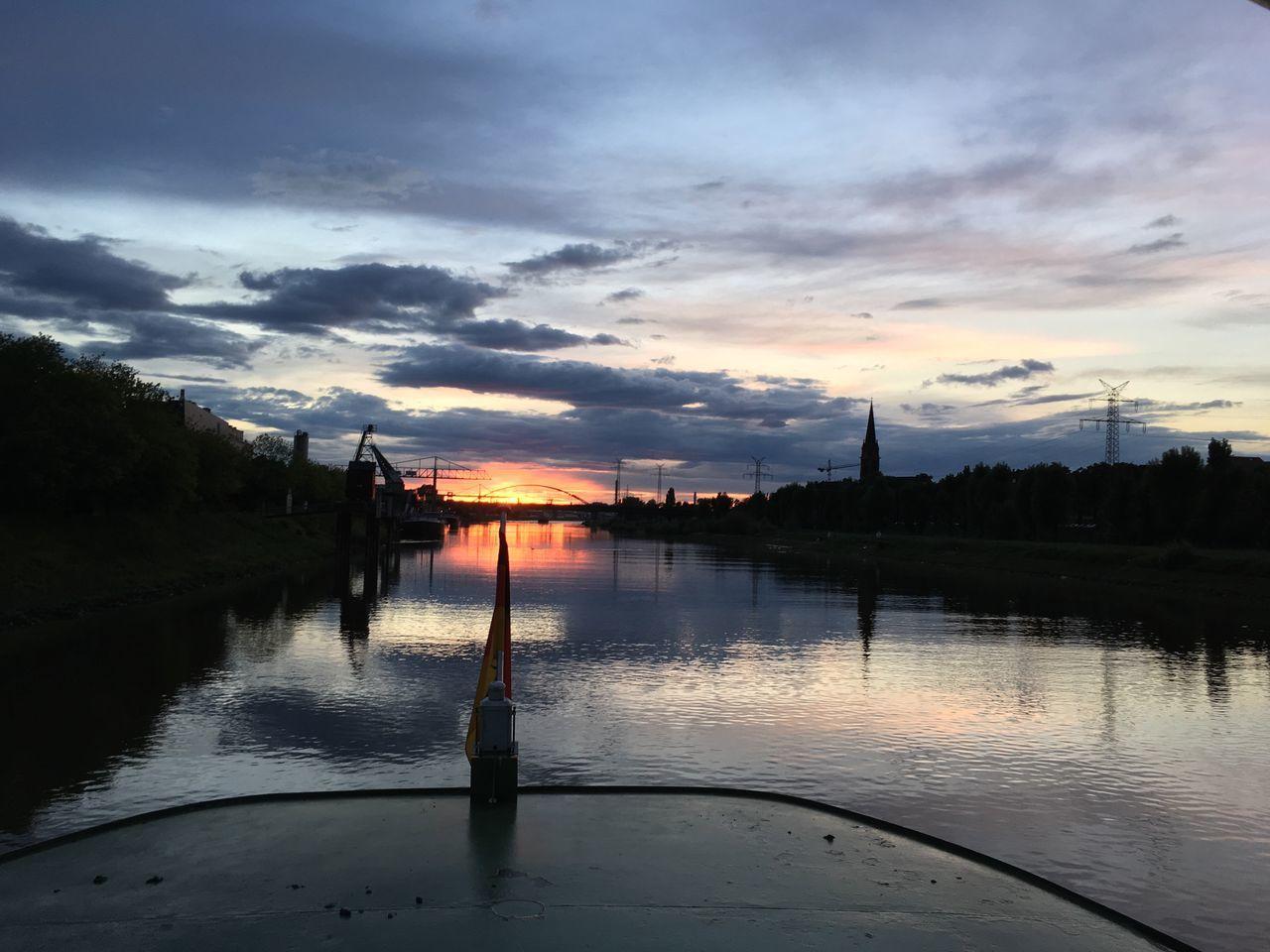 Mannheim Sunset Water Sky Reflection Cloud - Sky Outdoors First Eyeem Photo
