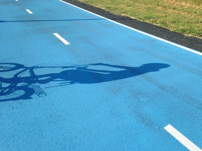 Shadow on the road Blue Road Cycling Shadow Cycling Sky Lane Cycling Road Suwannaphumi Biking Morning Ride  Thailand Ladkrabung