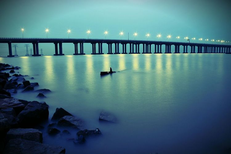 Bridge Bridge View Sea View Long Exposure Shenzhen China Brilliant Colors I Love My City Nikon D7100