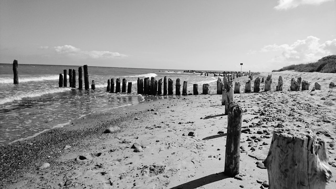 Beachphotography Water Black And White Strand Ostseeküste