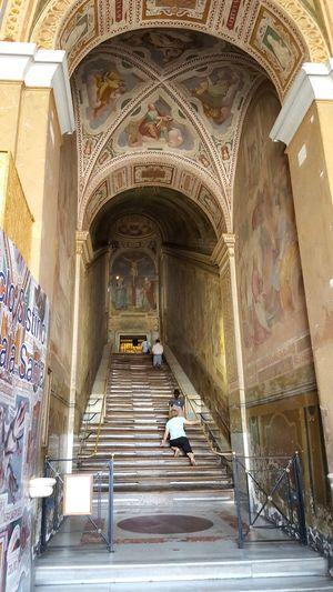 Scala Santa Scala Sancta Holy Staircase Roma Rome Religion Christianity Indoors Architecture Arch Stairs Catherine2017 The Week On EyeEm