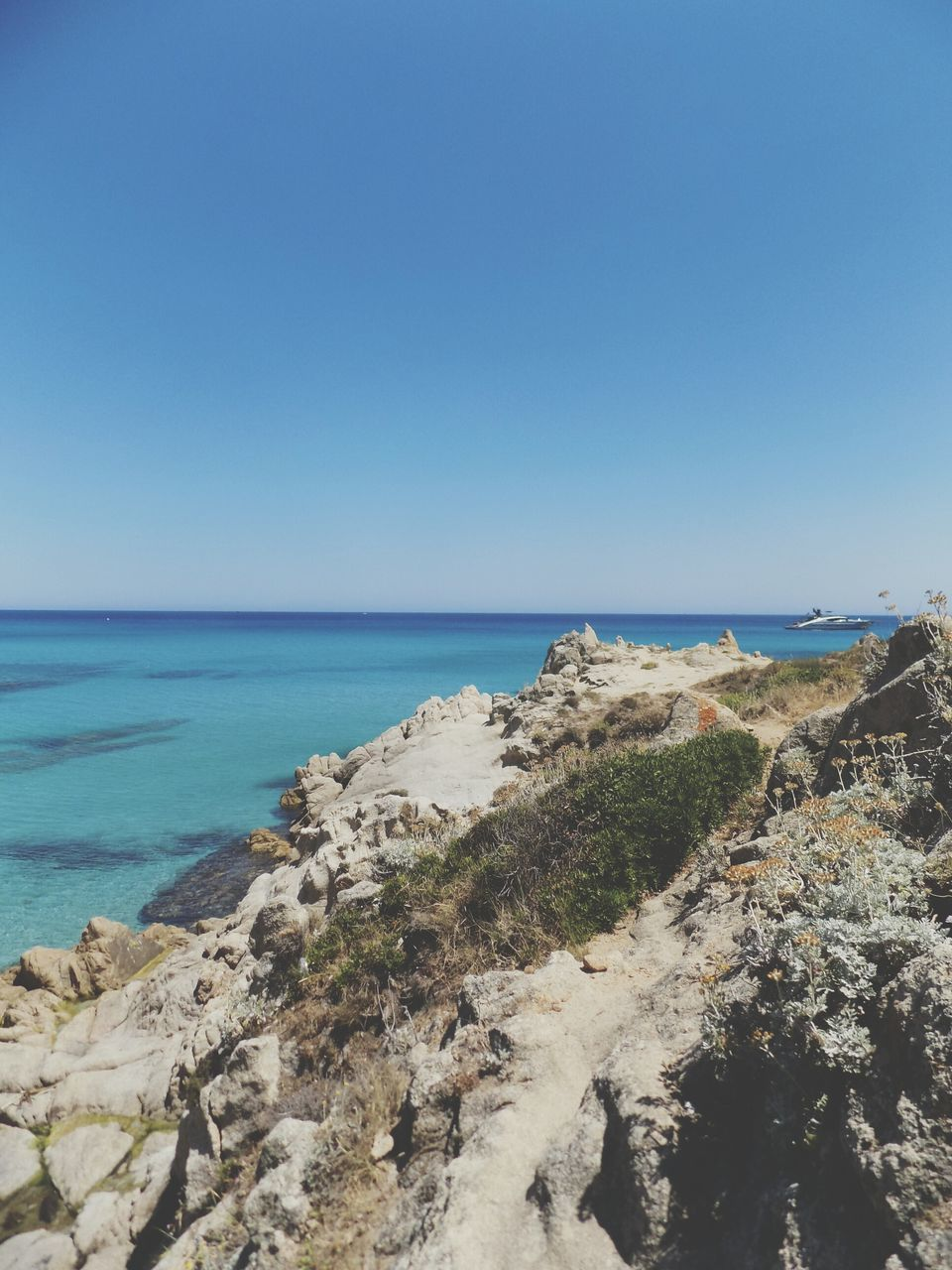 sea, water, nature, horizon over water, scenics, beauty in nature, clear sky, tranquil scene, copy space, tranquility, beach, outdoors, blue, day, no people, sky