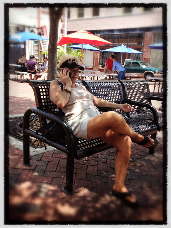 Hello? at Downtown Ft Myers by John Bruewer