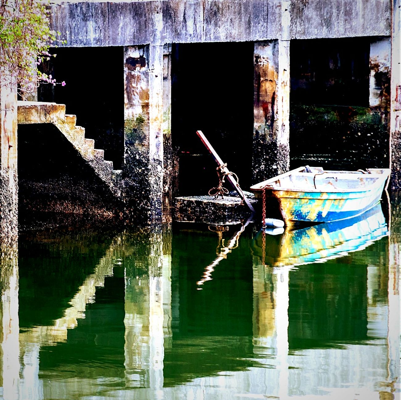 missing Boat , Docks , Pier , Notes From The Underground the abandoned old ports of Johor Bahru , Malaysia