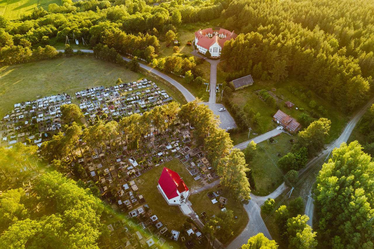 Church and Monastery in Kaunas county, Lithuania Aerial View Architecture Beauty In Nature Church Drone  Dronephotography Forest Kaunas County Lietuva Monastery Outdoors Pastuva Tree