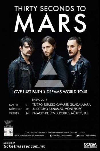 Echelon Thirtysecondstomars 30secondstomars en mexico