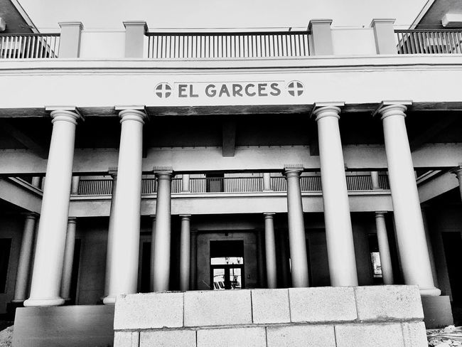 """El Garces No. 2"" Front shot of the El Garces Harvey House in Needles, California, the ""Crown Jewel"" of the entire Fred Harvey chain. Historical Landmarks Historical Place Historical Monuments Historical Building Historical Site Route 66 Harvey House Needles Blackandwhite Photography Blackandwhite"