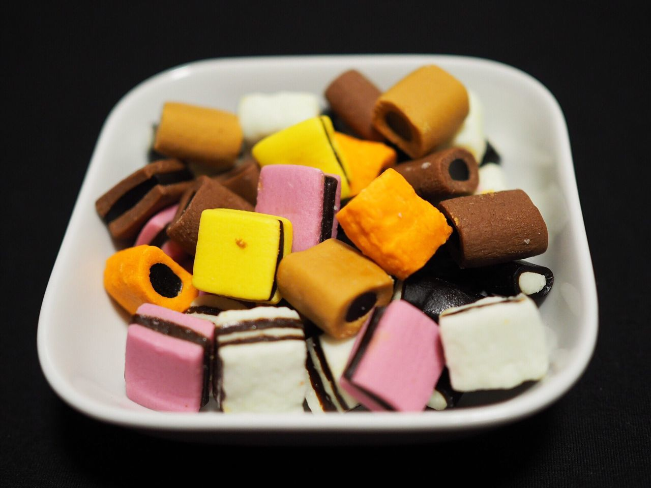 High Angle View Of Sweet Food In Container