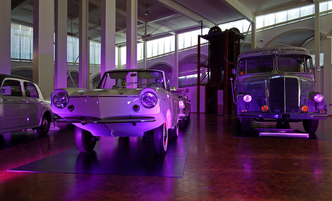 Amphicar Architecture Illuminated Indoors  Mannheim SWR Bus Technology Technoseum Transportation