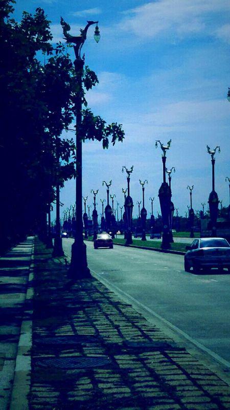 Into The Blue, road in Blue, Thanon Utthayan, Salaya, Nakorn prathom, Open Edit In Eyeem. Taking Photos.