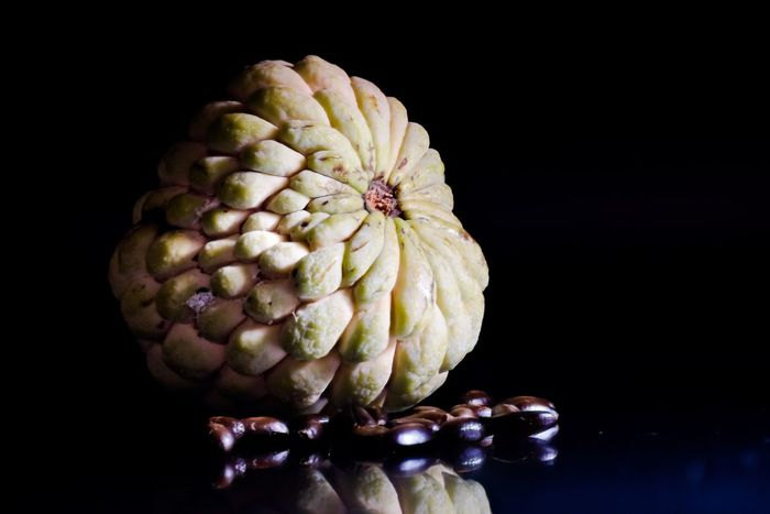Sugarapple Sweet Fruit Nutritious Healthy Sugarapple Food Still Life Macro Detail Close-up