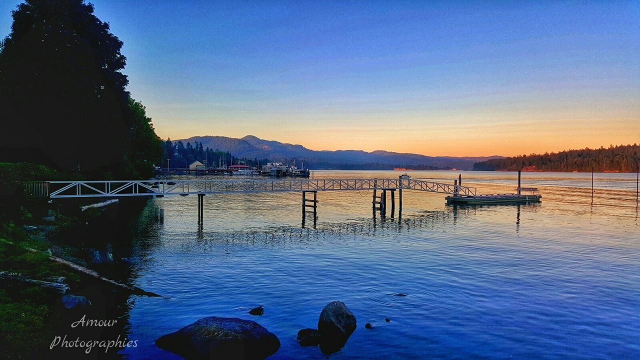 """Sooke Glow"" . Amour Photographies Sooke Bc Vancouver Island Coast Fall Beauty Dock Harbor Sunset Paint The Sky Sooke Glow Amour Photographies Reflected Glory"