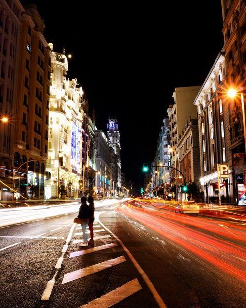 Long exposure in Madrid. Long Exposure Madrid