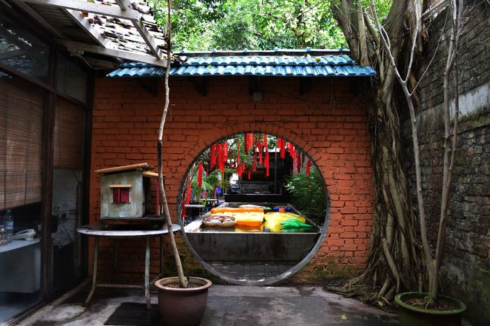 Portal to another world Water Architecture Built Structure Day No People Drinking Fountain Indoors  Tree