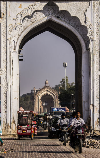 Arch Day Architecture Built Structure Outdoors Travel Destinations Building Exterior Triumphal Arch Clear Sky King - Royal Person Travel Photography Lucknow👌City Lucknowdiaries❤ History Architecture Roomi Gate Of Lucknow, Up, India Ancient Lucknowdiaries City People