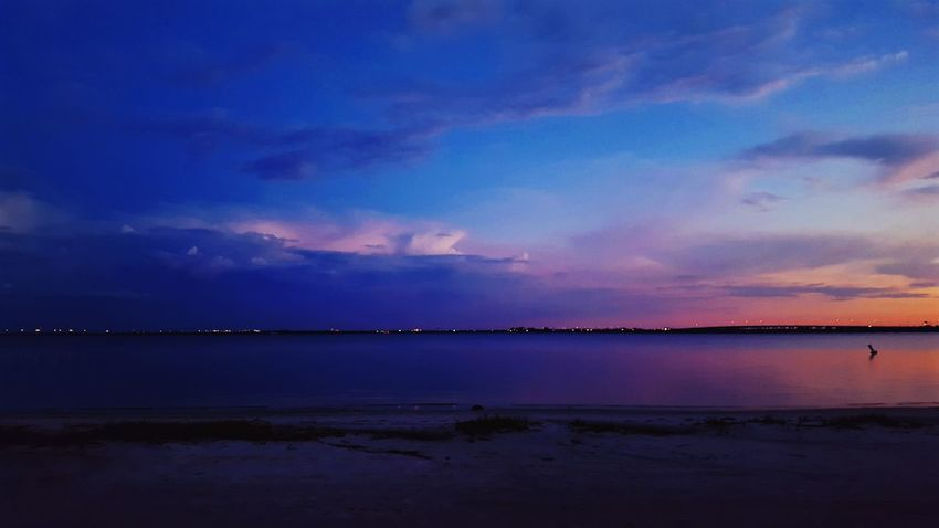 Tranquil Scene Scenics Tranquility Water Dusk Blue Sky Beauty In Nature Sunset Calm Sea Nature Idyllic Non-urban Scene Cloud Vacations Cloud - Sky Tourism Ocean Majestic Vibrant Color Amazing View Hanging Out Check This Out Moody Sky