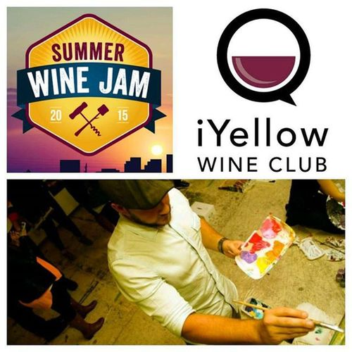 I'll be painting live this evening at Iyellowwineclub 's 3rd Annual Summerwinejam . Be sure to follow @iyellowwineclub for this and many other great events. Airship37 Distillerydistrict iyellow toronto COartshow CaseyONeill LiveArt @airship37